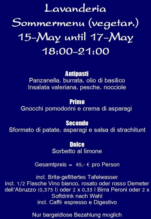 Abendmenu veg 15-17-May