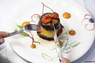 Gemüsetörtchen mit Bechamelsauce in der Lavanderia Vecchia am 18. Juni 2021.